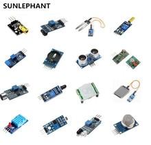 On sale SUNLEPHAN 16 in 1 Modules Sensor Kit Project Super Starter Kits for UNO R3 Mega2560 Mega328 Nano Raspberry Pi 3 2 Model B