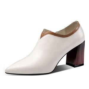 Image 5 - ALLBITEFO 브랜드 천연 정품 가죽 여성 하이힐 지적 발가락 여자 봄 패션 섹시한 하이힐 신발 힐 여성 신발