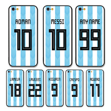 European Football Argentina National Team Jersey style Messi Roman Custom Names and Numbers case for iPhone 7 Phones cases