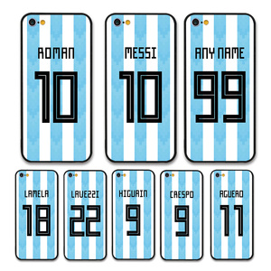 European Football Argentina National Team Jersey style Messi Roman Custom Names and Numbers case for iPhone 6 6S Phones cases