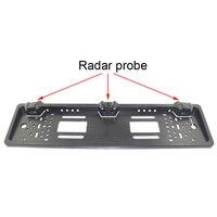 Car Parking Sensor LED Display European License Plate Frame Vehicle Backup Radar Punch Free Car Styling