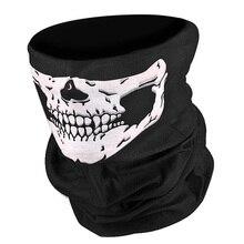 Мужской шарф на Хэллоуин, вечерние банданы, лыжный платок с черепом, маска на половину лица, шарф с привидением, шарфы для пешего туризма, Балаклавы, маски