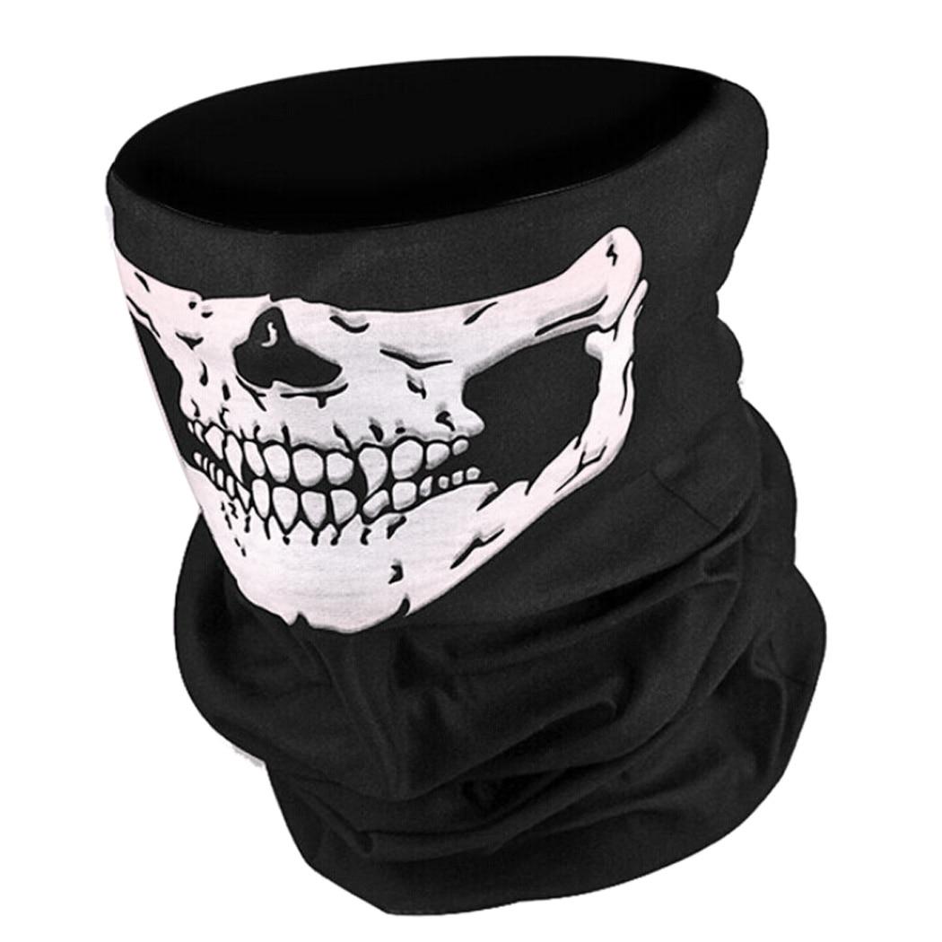 Halloween Men Scarf Ride Bandana Party Headscarf Ski Skull Half Face Mask Ghost Scarf Neck Hiking Scarves Cuello Balaclava Masks
