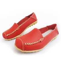 [C] Women Shoes Soft Bottom Flat Rear Soft Tread With Casual Shoes Peas Shoes Singles Genuine Leather Oxford .LLX-A-83