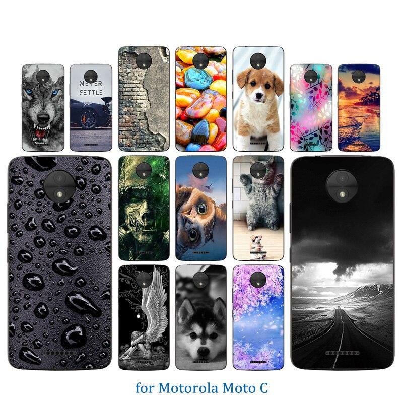 Per Motorola MotoC Caso 5 pollici TPU Della Copertura Del Silicone Per Motorola XT1750 Fonda Per Motorola MotoC Coque Morbido Trasparente di Protezione borsette