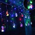 De vacaciones 3 M 120 Led 12 unids Gran Bola Cortina de la Secuencia del LED 110 V-220 V Luces de Hadas de Cuerda Decoración Del hogar Para El Banquete de Boda Navidad