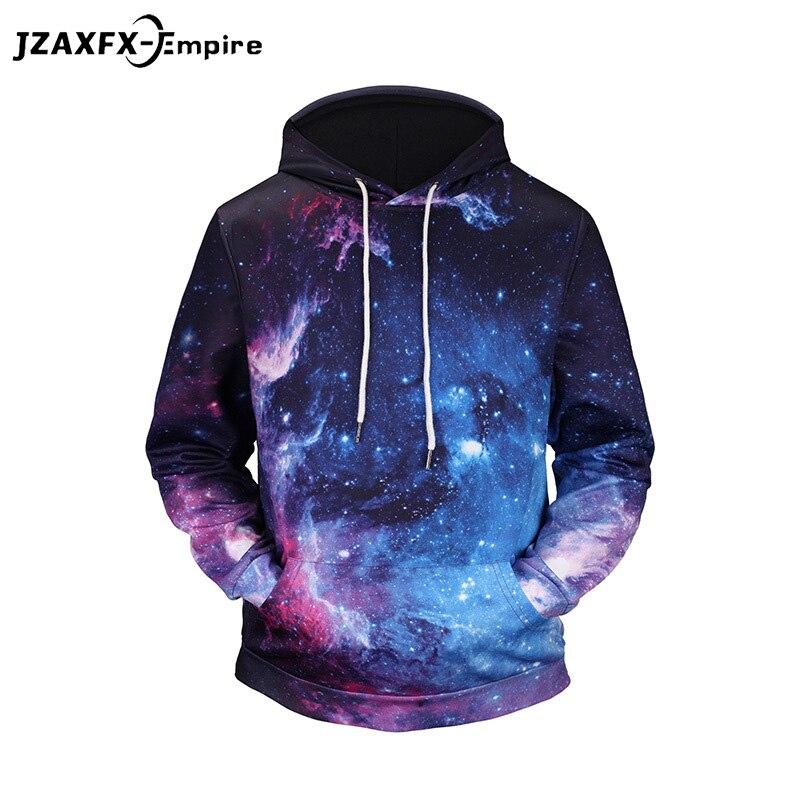 Космос Galaxy печати Толстовки с капюшоном Для мужчин/Для женщин 3D толстовки печати красочные Туманность тонкие весенние модные свитеры
