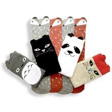 Лиса тоторо парни наколенники гетры малыш носки дизайн девушки осень зима