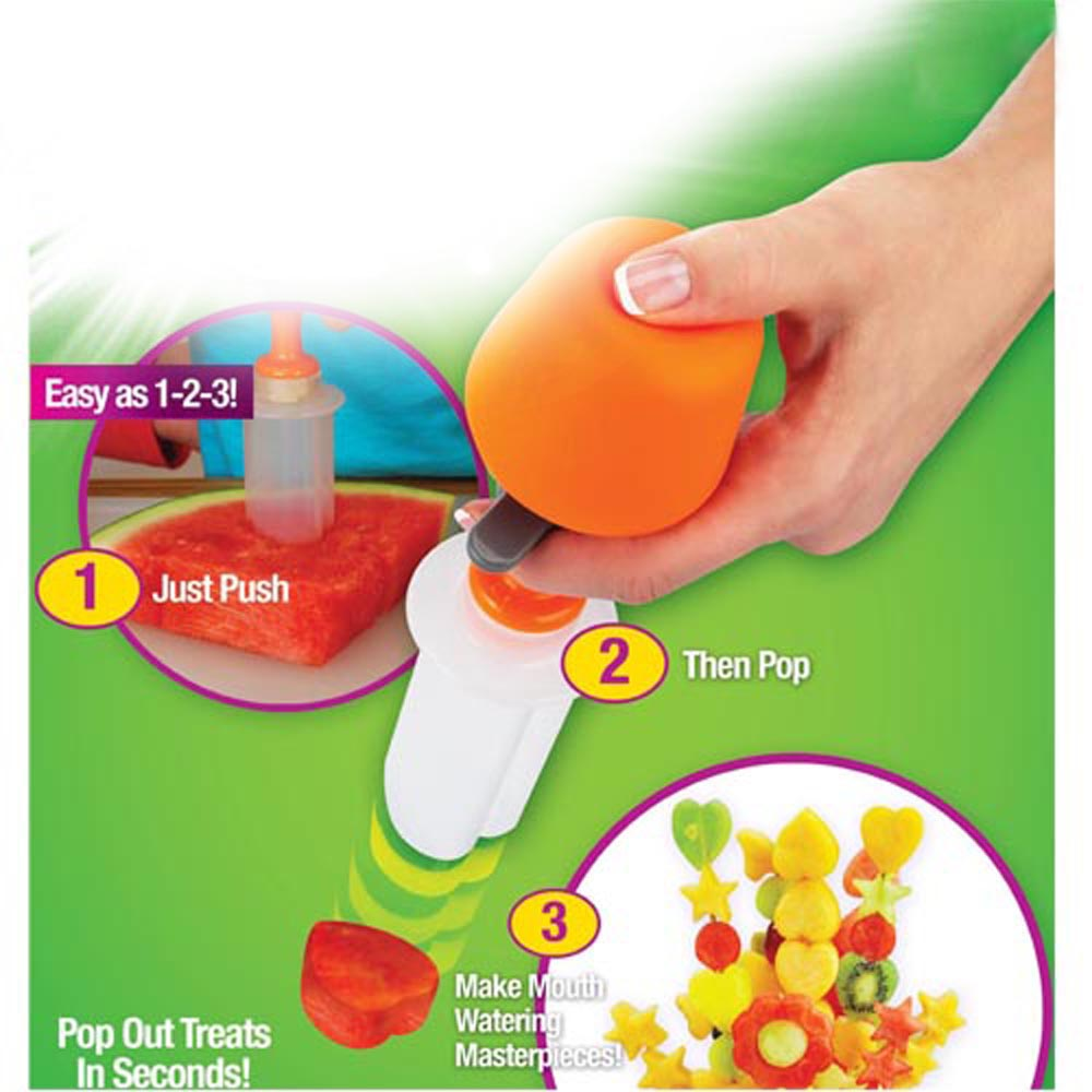 Creative Kitchen Accessories Cooking Tools Plastic Fruit Shape Cutter Slicer Veggie Food Decorator Fruit Cutter 5