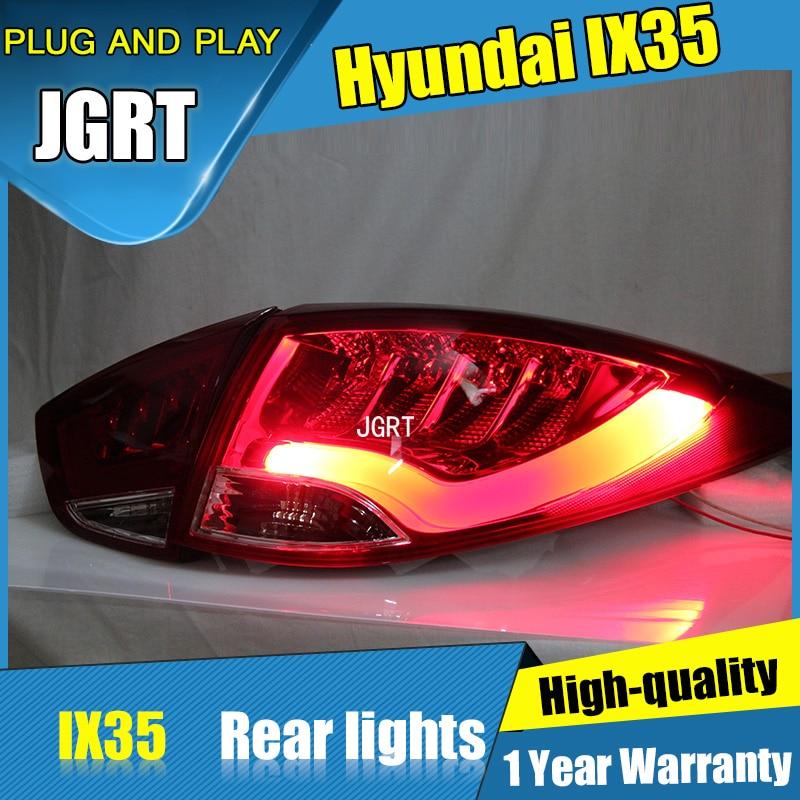 4PCS Car Styling for Hyundai ix35 Tail Lights 2010-2013 for ix35 LED Tail Lamp+Turn Signal+Brake+Reverse LED light car styling tail lights for hyundai ix35 2010 2013 led tail lamp rear trunk lamp cover drl signal brake reverse