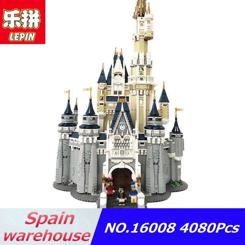 Lepin 16008 4080 pcs Princess Castle modello di Città Compatibile con Legoing amici castello 71040 Ragazze Blocchi giocattoli nave da usa-Spagna