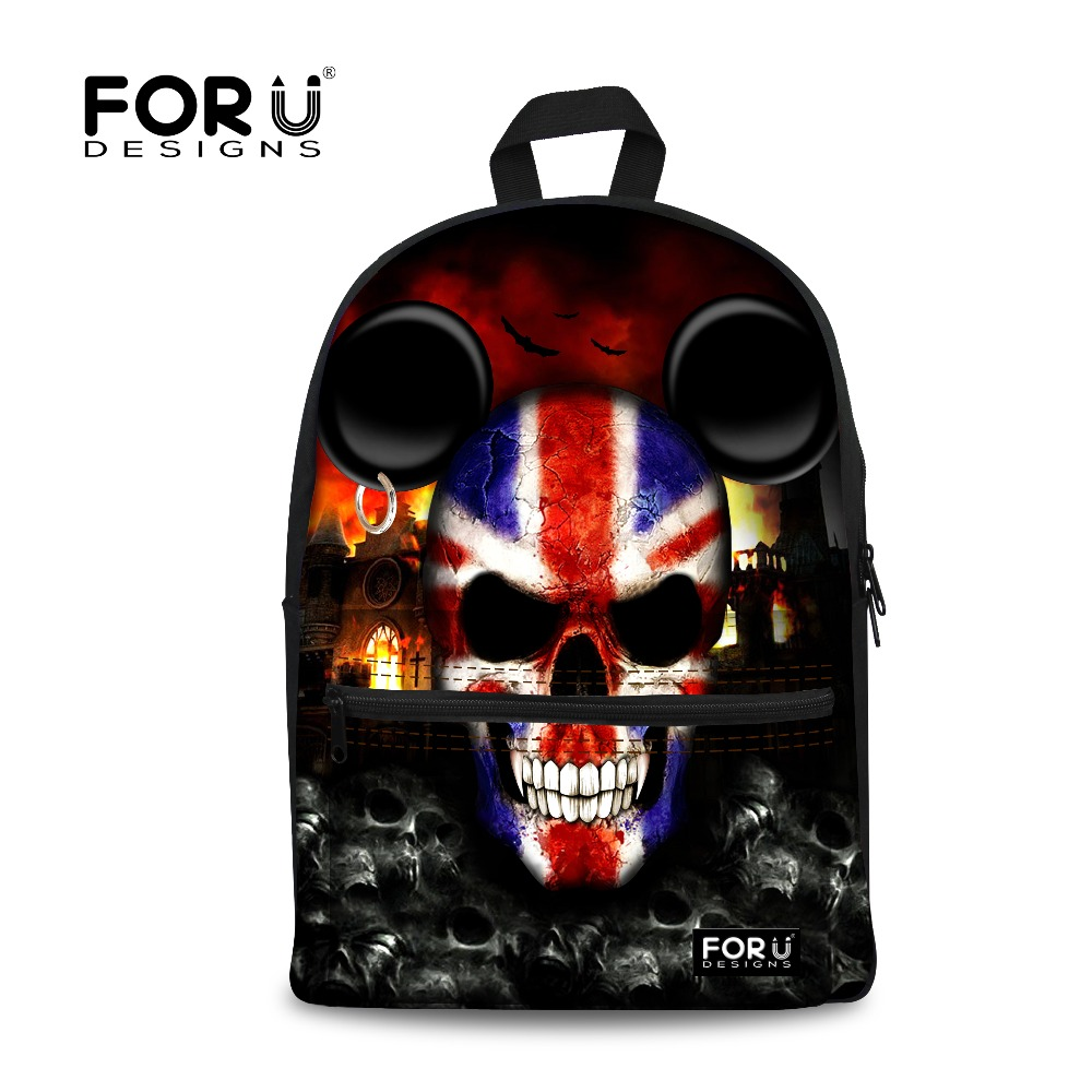 School bags online cheap - Forudesigns Amazing Skull Print Children School Bags For Student Teenage Boys Punk Style Kids Schoolbags Student