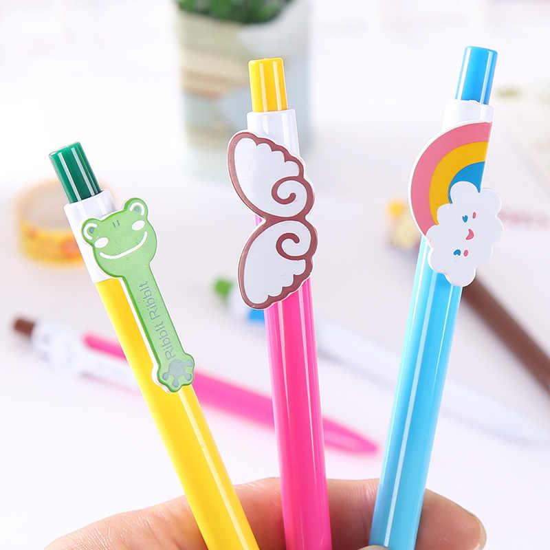 10 шт./упак. Красивая шариковая ручка, подарочная ручка, креативное крыло, дождевик, ядро, Solventborne, автоматическая шариковая ручка, офисные школьные канцелярские принадлежности