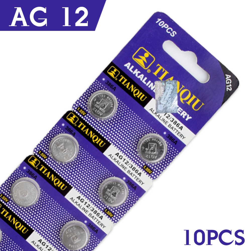 YCDC 10pcs/lot Button Cell Coin Alkaline Battery AG12 Battery V12GA SR43W SG12 260 LR43 LR43 AG12 SR43 260 386 1.55V 55% off стоимость