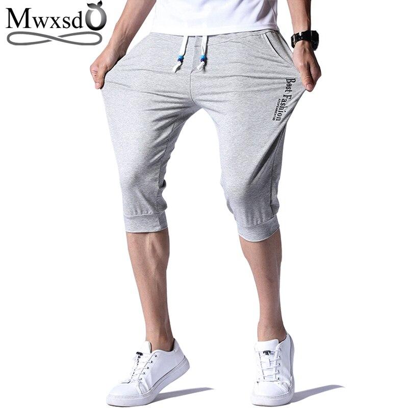 Calções basculador homens casuais 2019 homens Verão de algodão Elástico Na Cintura shorts masculino respiração respiração sólida calças curtas