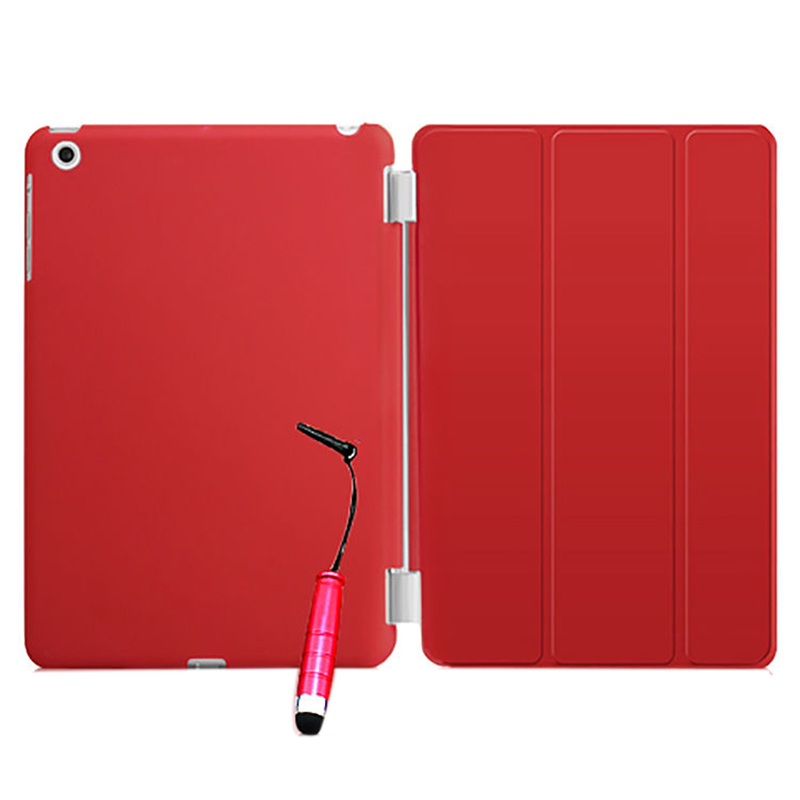 New Smart Stand Magnetic Leather Case Cover For Apple iPad Mini 1 2 & 3 colour:Red apple ipad mini smart case black mgn62zm a