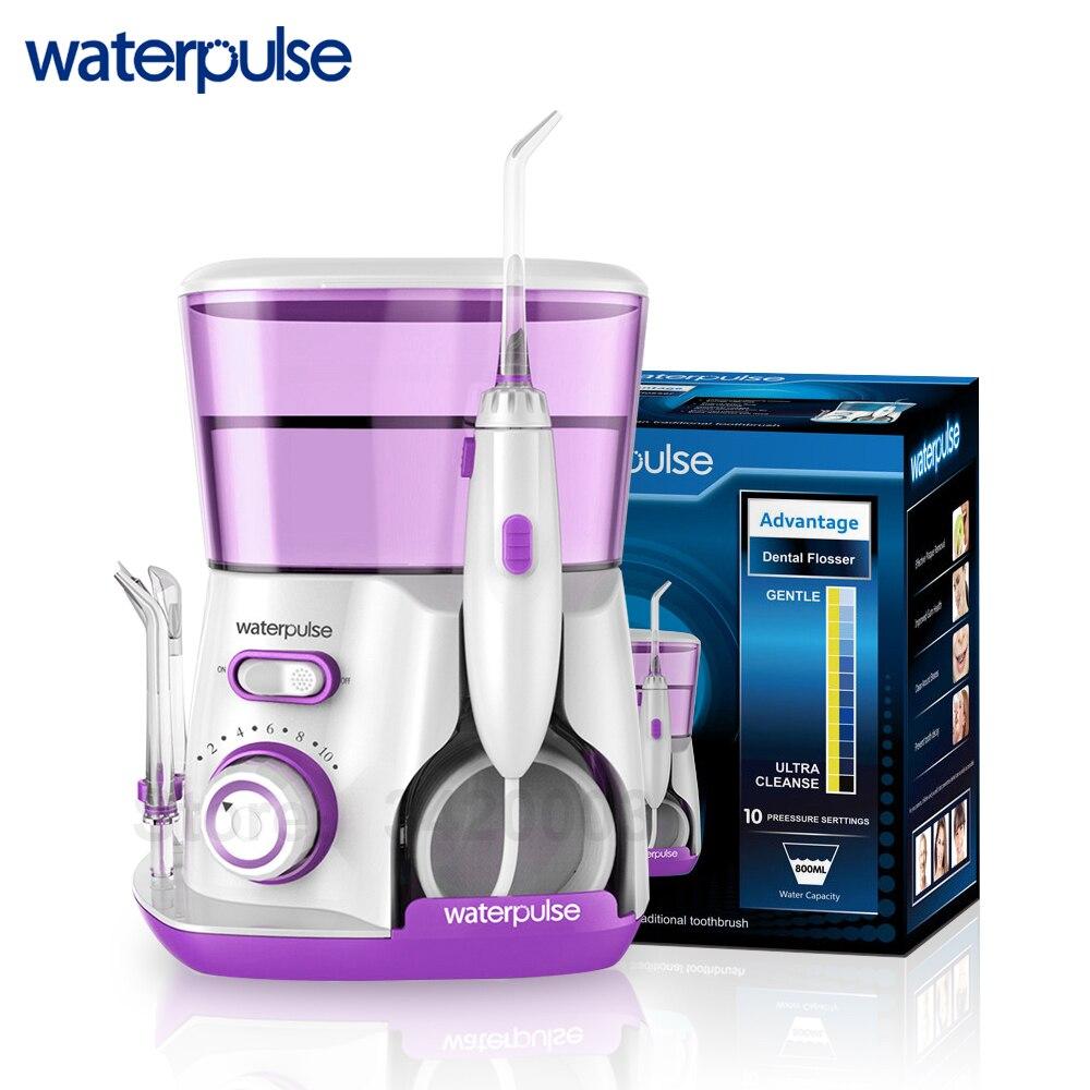 Waterpulse V300R Eau Flosser Avec 5 Conseils Électrique Oral Irrigator Soie Dentaire Dentaire 800 ml Capacité Hygiène Bucco-dentaire Pour Famille Soins