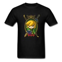 Hero Of Time Portrait The Legend Of Zelda T Shirt Men Man's Classic Short Sleeve Cotton Custom Big Size Group  T-shirts