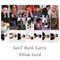 Youpop KPOP GOT7 Жесткий Carry Альбом Фото Карта K-POP Самодельных Автограф Подпись Бумажных Карт Фотокарта XK377