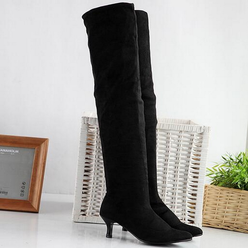 new 2017 autumn winter boots plus size 34 43 high