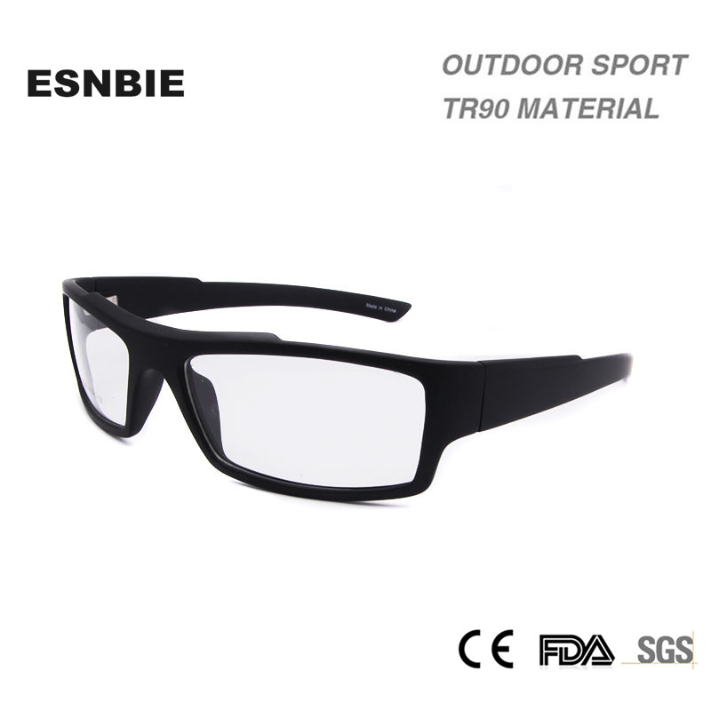 ESNBIE Clear Glasses Ramar Mens Smonturas de lentes Hombre Man TR90 Material Prescription Frame Glasögon Ramar Män