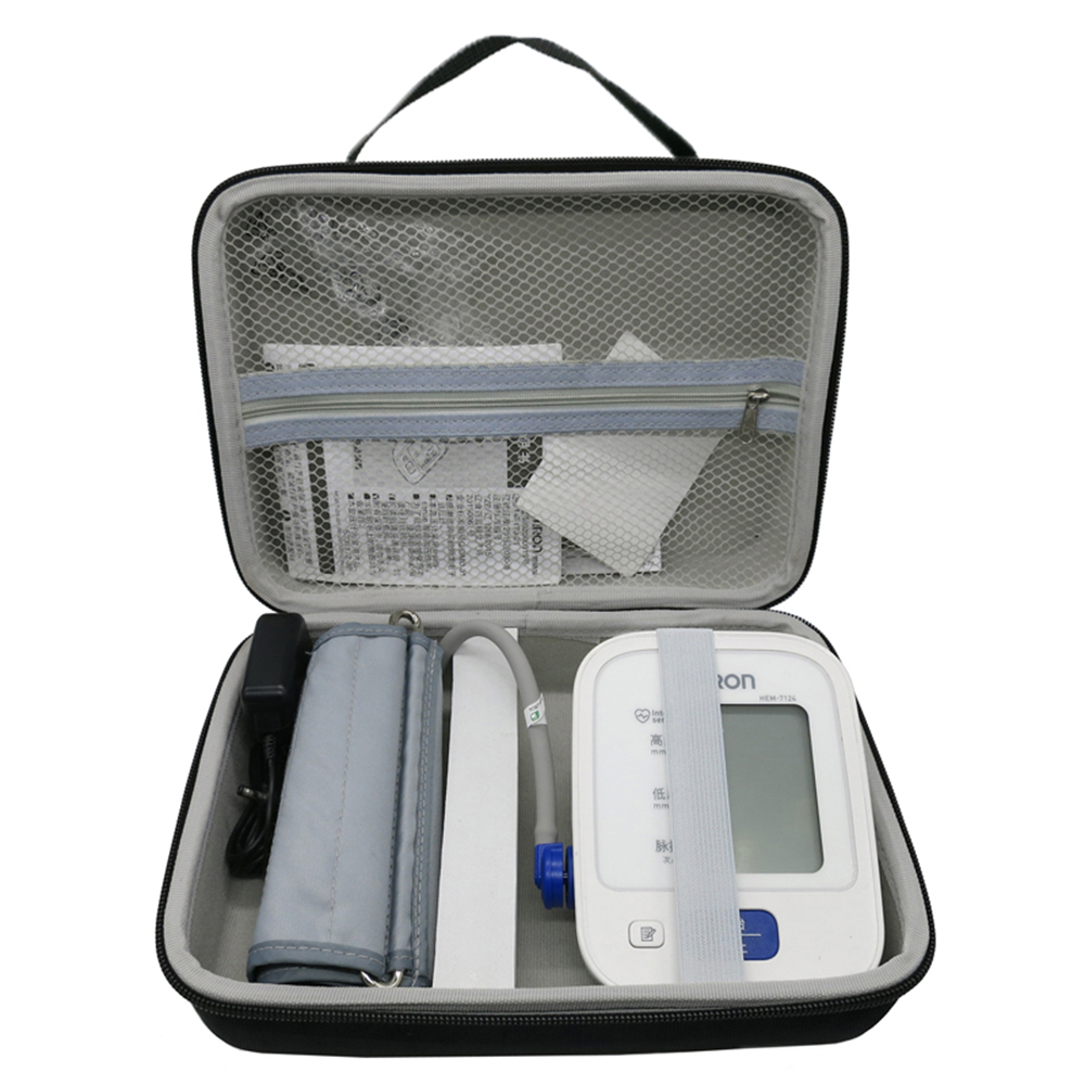 New Arm Blood Pressure Monitor Storage Bag Portable Shockproof Waterproof EVA Carry Hard Case Pouch Medical Organizer for OmronNew Arm Blood Pressure Monitor Storage Bag Portable Shockproof Waterproof EVA Carry Hard Case Pouch Medical Organizer for Omron