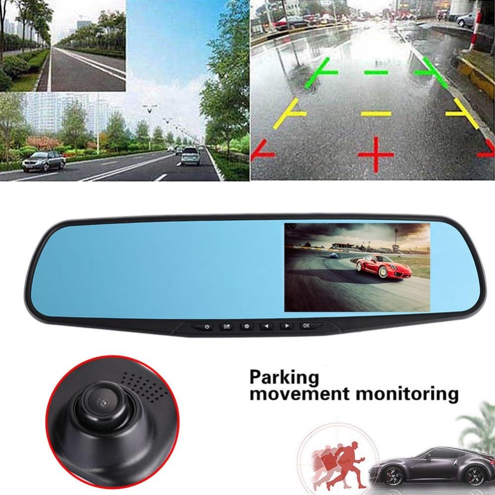 dvr dash camera dash cam car dvr mirror dual lens rear view camera rearview dashcam auto recorder video full hd front and rear цена