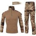 Ejército primavera suave pistola de aire chorros rana CP pantalones de camuflaje woodland BDU uniforme chándal de los hombres de traje de los hombres