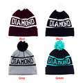 Comfortable Design Winter Diamond Shape Hats Sport Style Caps Mens Hat Knitted Beanie for Men and Women Skullies Beanies