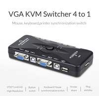 Unnlink 4 Port USB KVM Switch Hub Box Selector Adapter USB 2 0 KVM 4 Ports