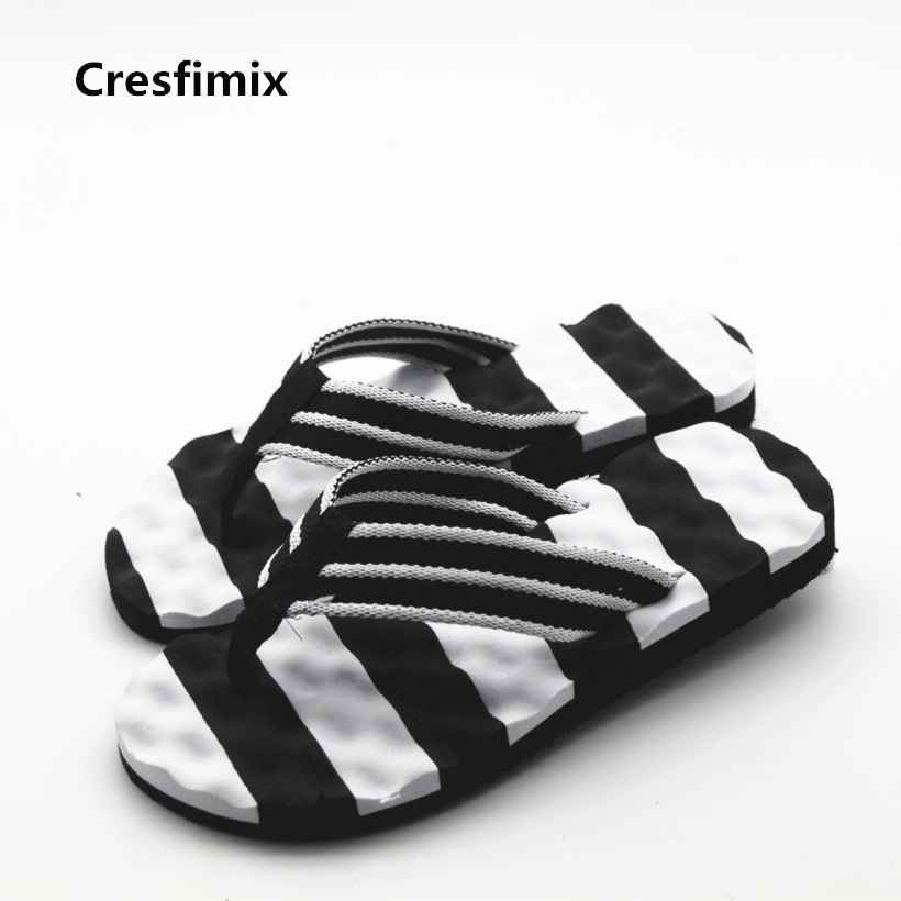 Cresfimix Men Casual Comfortable Summer Beach Flip Flops Male Cool Spring White Flip Flops Blue Man's Home Flip Flops A343