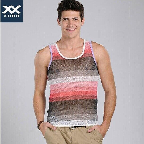 XUBA quality men fashion   tank     top   comfortable slim shirts for men (size S M L XL )---- Free shipping
