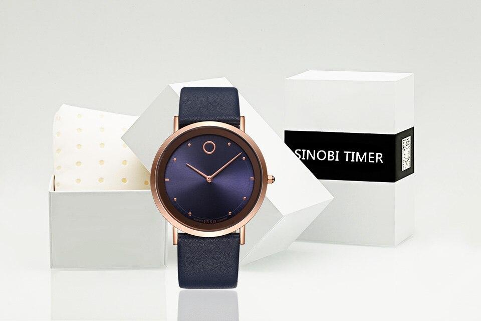 c32cbb9ee1b ᗜ Ljഃ2018 IBSO Ultra-fino Azul Dial Mens Relógios Top Marca de Luxo ...