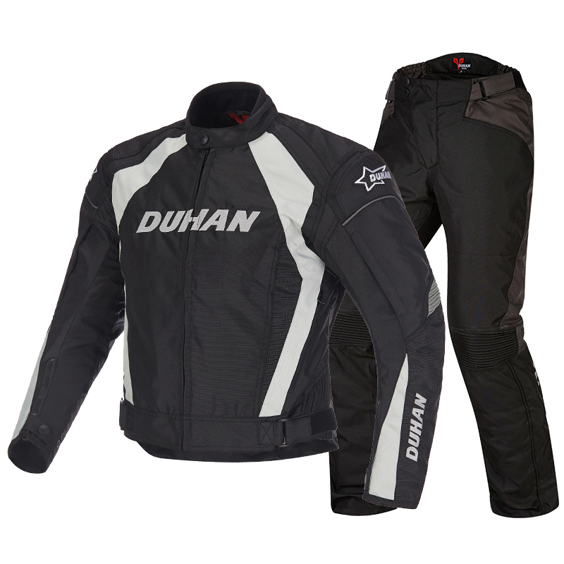 Moto DUHAN Motorcycle Men's Waterproof Riding Sport Oxford Jacket Clothing Motocross Off-Road Racing Protection Coat Black M-2XL risk racing 00 110 black motocross grip donuts with blister protection