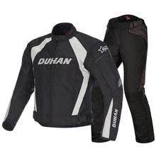 Мото Духан мотоциклетные Для мужчин ветрозащитный езда Спорт Оксфорд куртка Костюмы Мотокросс гонки по бездорожью защиты пальто черный M-2XL