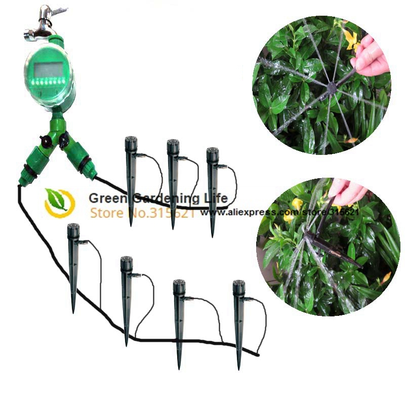 Aliexpress.com : Buy 4/7mm 30m DIY Drip Irrigation System Plant Automatic  Self Watering Garden Hose Kits 30Adjustable Dripper Automatique Micro Drip  From ...