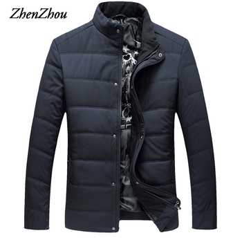 L-6XL Solid Parkas Mens Winter Jacket Male 2019 Brand Clothing Man Coat Stand Collar Overcoats Male Plus Size Top Quality