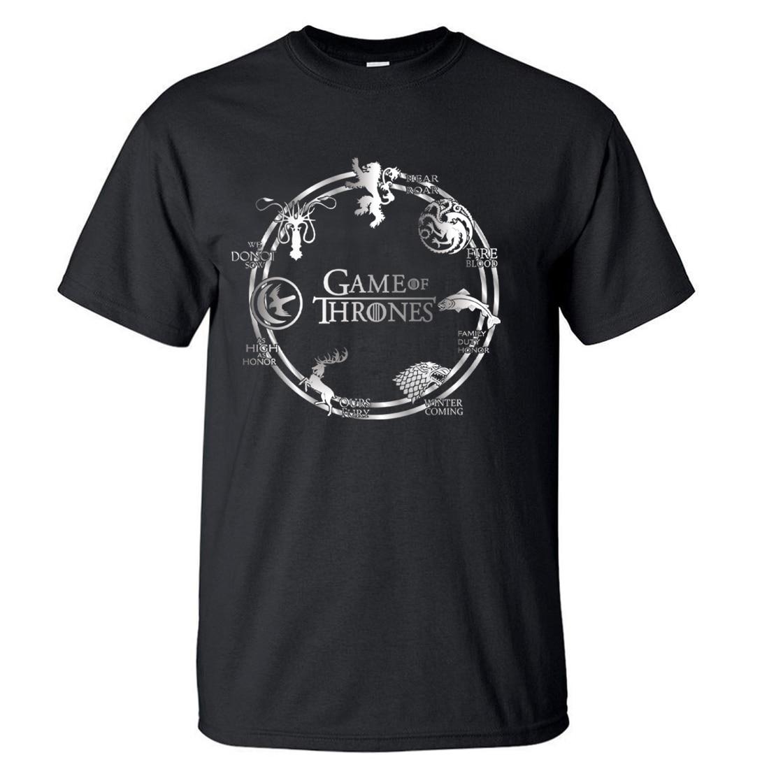 Hot Sale Game of Thrones Men   T  -  Shirts   2018 Summer Casual Fashion Men   T     Shirts   100% Cotton High Quality Short Sleeve Men   T  -  Shirts