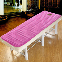 Beauty salon non slip mattress bed sheet linens cotton spa massage bed sheets with holes body care dedicated solid fitted sheet