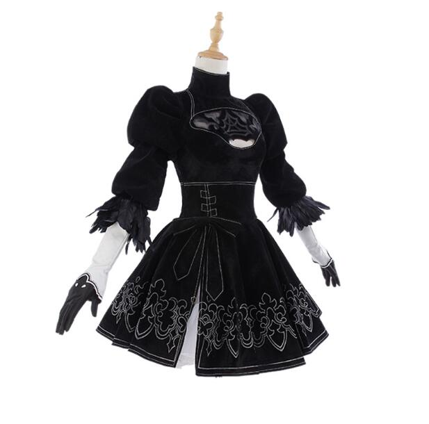 NieR: Automata Game heroine 2B Black Dress cosplay Costume Gratis - Carnavalskostuums - Foto 3