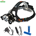 Led Head Lamp Cree 3*T6 6000 LM Headlight Torch Adjustable Portable Head light with Car/US/UK Charger 18650 Battery Headlamp
