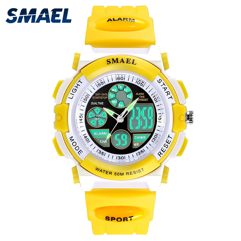 smael jelly waterproof swim sport watches colorful