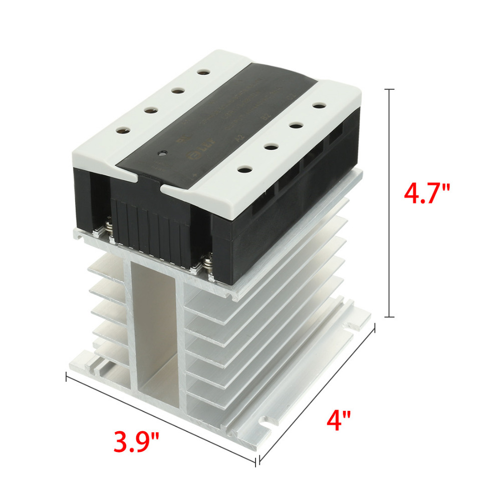 New DC to AC 80A 3-32VDC to 40-440VAC SSR Thermal Compound Three Phase Solid State Relay + Heat Sink UL Recognized LSR1-3-380DA new and original sa366200d sa3 66200d gold 3 phase solid state relay 4 32vdc 90 660vac 200a