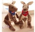 30 cm Precioso australia canguro de peluche de juguete de peluche muñecas para los niños regalo de cumpleaños, la madre y los niños canguro animal relleno de la muñeca