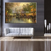 Fashion Evening on the Avenue Thomas Kinkade Art Painting Prints Canvas for Living Room Wall Decor Picture No Frame