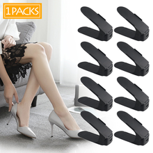 2019 Adjustab Shoe Rack Double Shoe Holder Modern Living Shoe Storage Organizer Cleaning Convenient Shoes Organizers Stand Shelf(China)