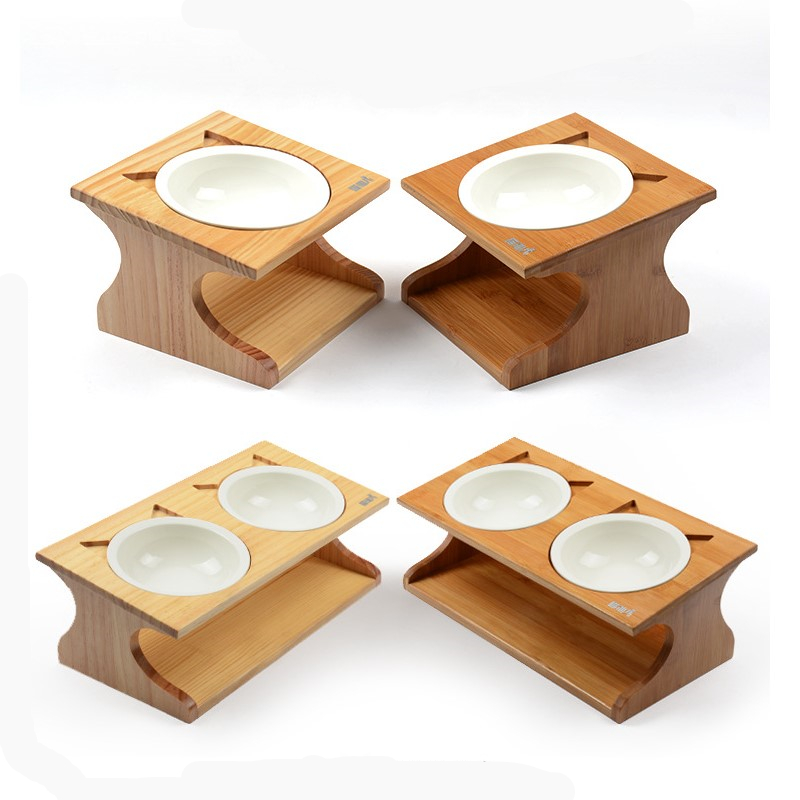 New Dog Food Bowls Elevated Cat Ceramic Pet Bowl Feeder Supplies for Cats Dogs Feeding Dish