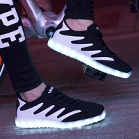 Luminous Sneakers Kids Shoes for Girls Boys USB Charging Sneakers with Backlight Women Sneakers for Lovers Zapatillas Con Luces