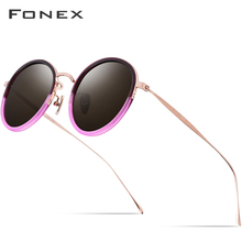 Pure B Titanium Acetate Polarized Sunglasses Women 2019 New Fashion Vintage Round Sunglass Men Retro Mirrored Sun Glasses Oculos