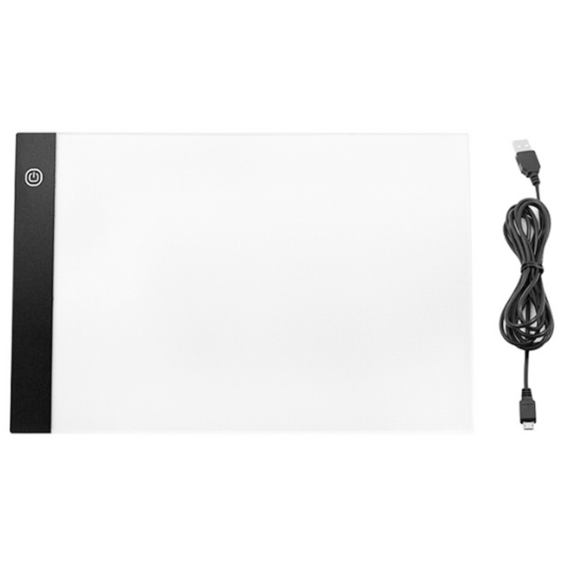 Dimming Digital Tablet A4 Led Drawing Pad Light Box Tracing Copy Board Graphic Art Painting Table Panel